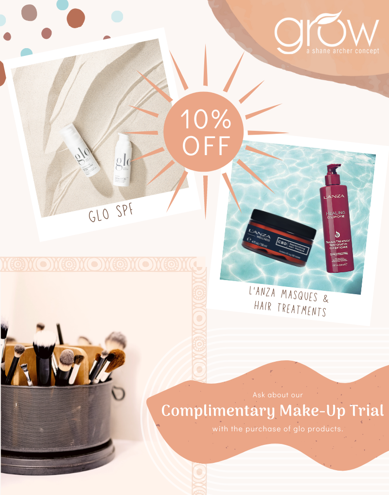 10% off purchase of Glo Products